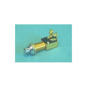 """Horn Button 1-1 / 4"""" mounting hole 5 / 8"""" dia. stamped brass chrome plated button 12v"""