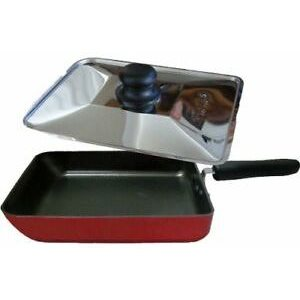 Boaties aluminium fry pan with stainless lid