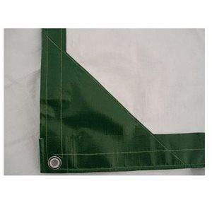 Tarp 6' X 8' green / white