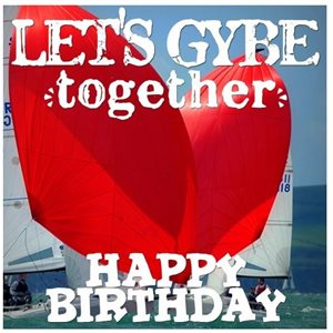 Greeting card - let's gybe