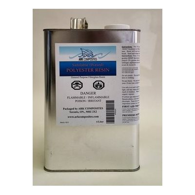 Polyester resin waxed with hardener 500 ml (sandable)