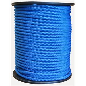 "Cordon élastique 1 / 8 "" bleu / pied"