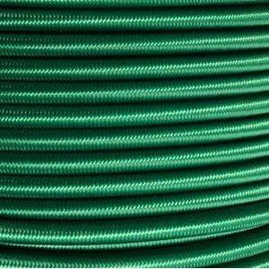 """Cordon élastique 3 / 16"""" vert / pied"""