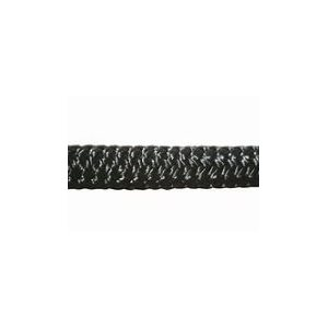 """Double braid polyester 3 / 8"""" (9.5 mm) black"""