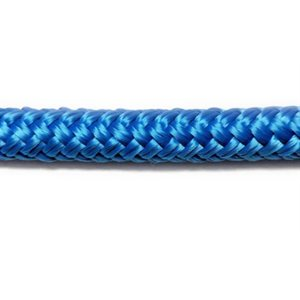 "Cordage polyester double tressage 1 / 2"" (12.7 mm) bleu"