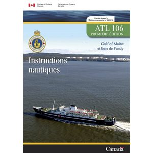Instructions nautiques Gulf of Maine - baie de Fundy