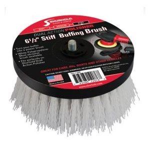 Buffing brush white stiff