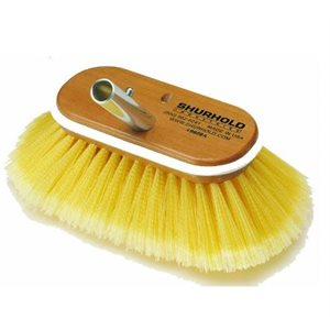 """Deck Brush 6"""" with soft yellow polystyrene bristles easily and positively locks into any Shurhold handle"""