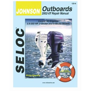 Marine manual for Johnson outboards all engines HP 3.5-250 year 2002-2007