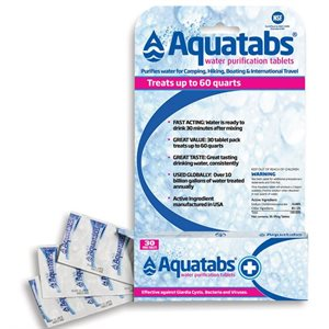 Aquatabs water purification tablets 30 tablets