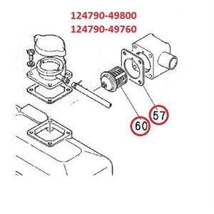 Joint de thermostat 2QM Pièce n ° 57 dans le schéma