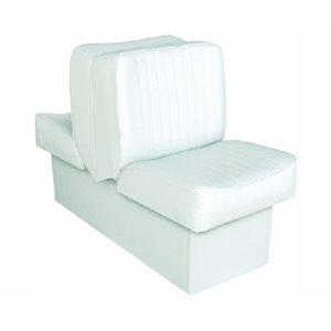 """Siège de luxe Lounge blanc 14-1 / 4 """"P x 17-1 / 2"""" L x 28 """"H 45-1 / 2"""""""