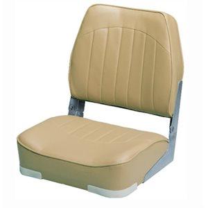 "Economy fold down fishing seat 18-1 / 2"" D x 15-3 / 4"" W x 18-3 / 4"" H beige"