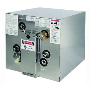 """Chauffe-eau 6 gallons, 120V à montage frontal avec échangeur avant 13-5 / 8 """"lx 13-1 / 2"""" H x 19 """"P"""