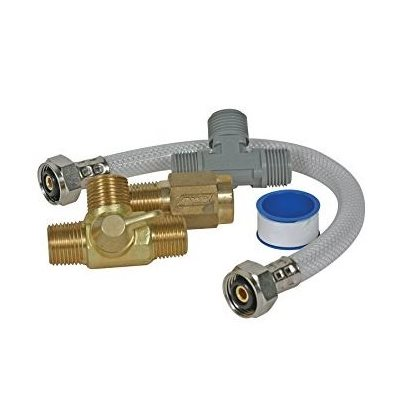 RV / boat quick turn permanent water heater by-pass kit