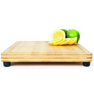 """Bamboo cutting board galley.RV countertop use with feet 11-13 / 16"""" x 10"""" x 13 / 16"""""""