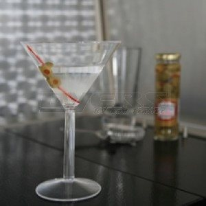 Polycarbonate Martini glasses