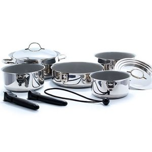 Cookware nesting set ceramic / stainless steel 10PC