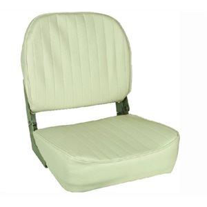 "Economy folding seat white 19"" H × 15.5"" D × 16"" W"