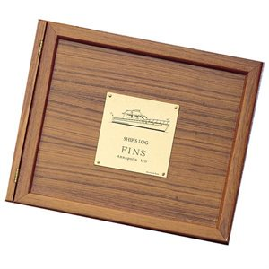 Weems and Plath Wood Log Book Cover For Powerboat