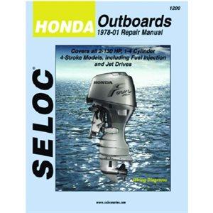 Seloc repair manual for Honda outboards 1978-2001 2.0-130hp