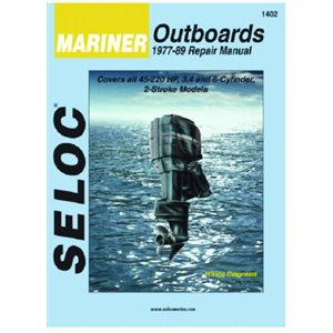 Seloc repair manual for Mariner outboards 3, 4, & 6 cyl 45-220hp 1977-1989