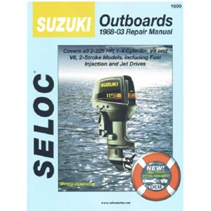 Seloc repair manual for Suzuki outboards 1988-2003 all 2 stroke, including jet drives 2-225 hp