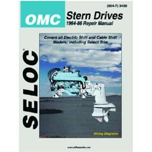 Seloc repair manual for OMC stern drive 1964-86