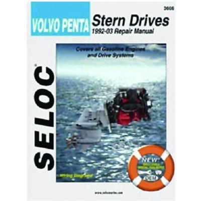 Seloc repair manual for Volvo Penta Stern Drive all gas engines 1992-2002
