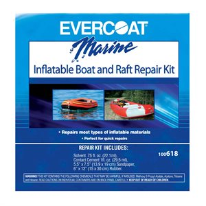Inflatable boat & raft repair kit