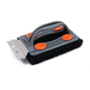 Swiper grill brush with 3 wipes