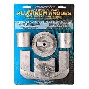 Anode kit aluminum Mercury Bravo 1