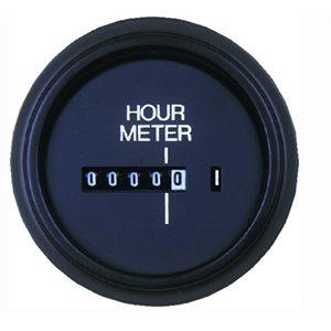 "Engine hour meter round universal 2"""