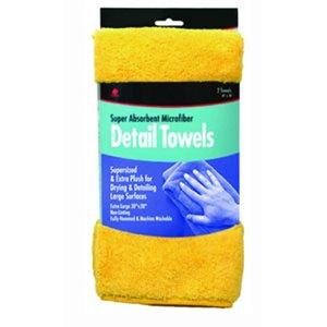 "Microfiber detail towels 20"" x 20"" yellow (2)"