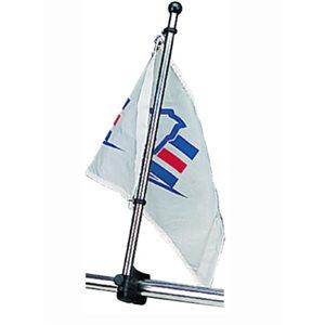 """Adjustable rail mount flagpole 30"""" fits 7 / 8""""-1"""" rails"""