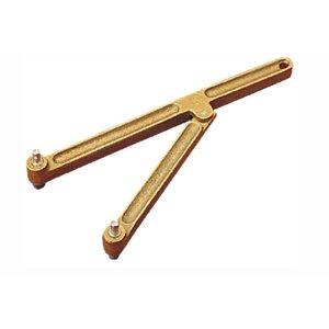 "Adjustable bronze deck plate key 6"" max opening"