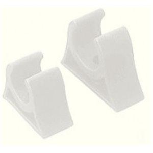 """Support de gaffe blanc moulé en caoutchouc 1-1 / 4"""" x 15 / 16"""" x 1 / 2"""" dia. paire"""