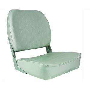 "Economy folding seat, grey 19"" H × 15.5"" D × 16"" W"