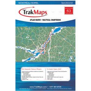Fleuve Saint-Laurent : Montréal à Sorel - atlas marin Trak maps