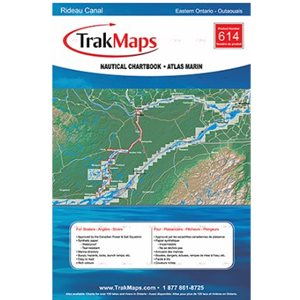 Canal Rideau : Kingston - Ottawa - Atlas Marin Trak maps