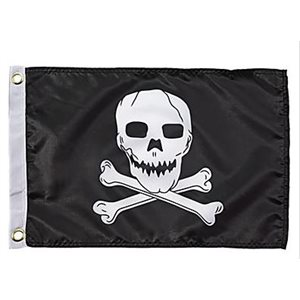 "Jolly roger flag 12"" x 18"""
