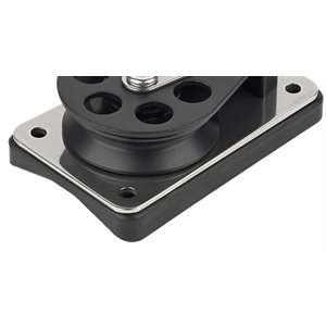 Mounting pad for series 5 cheek block adapts to spars