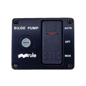 Deluxe bilge pump panel switch 3 way with fuse 12v