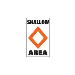 """Marker buoy label """"SHALLOW AREA """" (2)"""