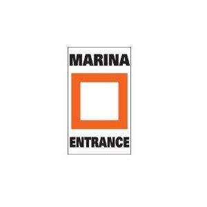 "Marker buoy label ""MARINA ENTRANCE "" (2)"