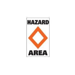 """Marker buoy label """"HAZARD AREA"""" (2)"""