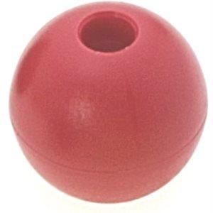 Boule d'emprise rouge 18 mm trou 5 mm