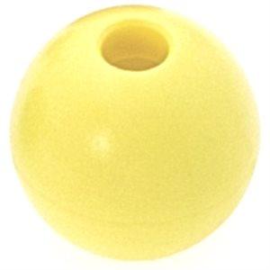 Boule d'emprise jaune 18 mm trou 5mm