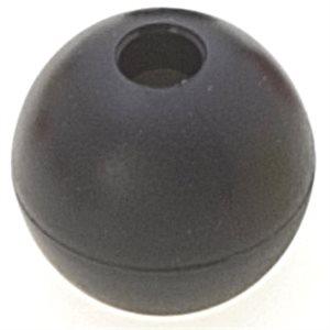 Black stopper ball 28 mm hole 6 mm