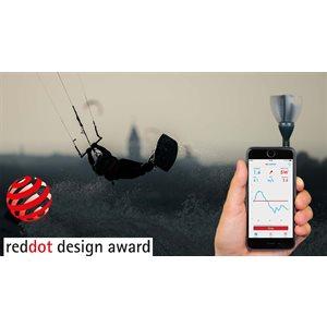 Sleipnir wind meter for smartphone speed & direction - grey